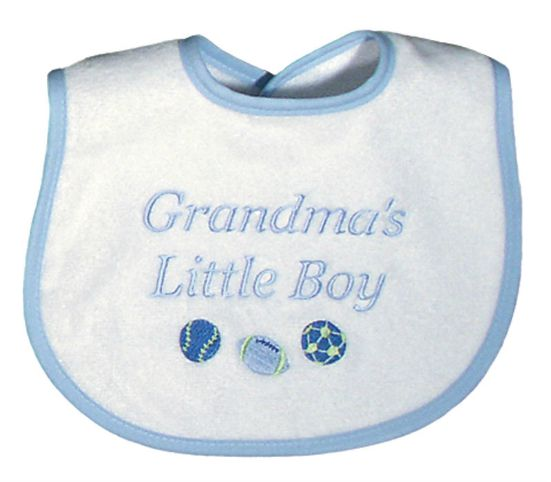 Grandmas Little Boy Blue Baby Bib