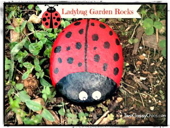 Ladybug Garden Rocks