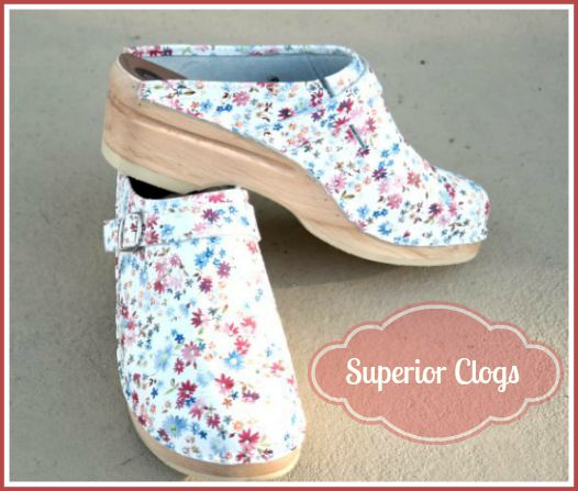 Floral Print Clogs - Superior Clogs