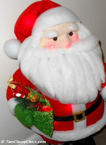 santa plush close up