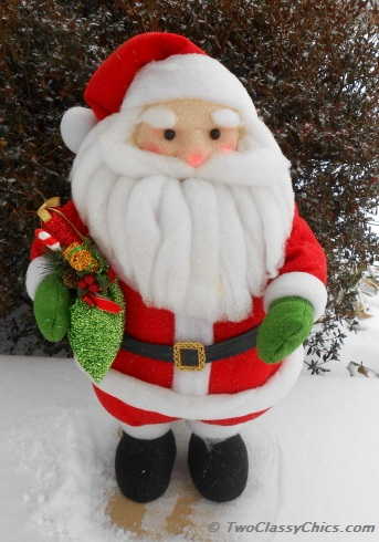 santa plush holiday decoration