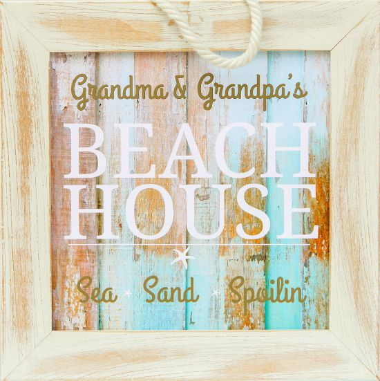 Coastal Beach House Grandparent Plaque