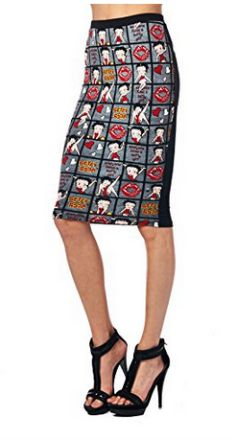 Betty Boop Pencil Skirt