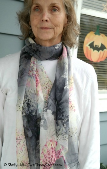 Floral Print Silk Scarves