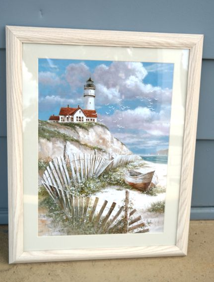 Lighthouse Coastal Framed Artwork
