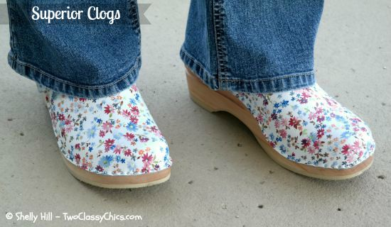 Flower Print Clogs - Superior Clogs