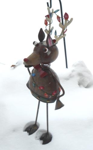reindeer metal yard art