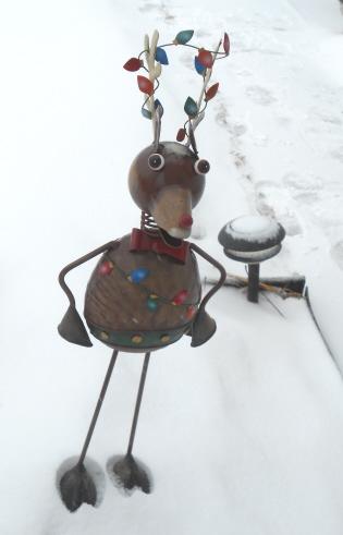 reindeer yard stake