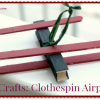 Kids Crafts Clothespin Airplanes
