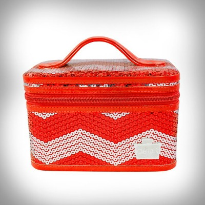Mini Valet Red Chevron Caboodles