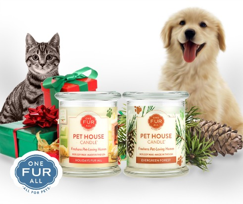 One Fur All Pets Holiday Candle Collection
