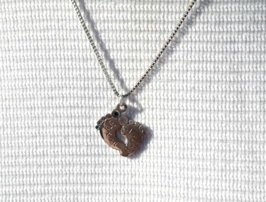Metal Stamped Memories Baby Keepsake Necklace