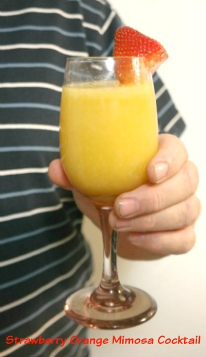 Strawberry Orange Mimosa Cocktail