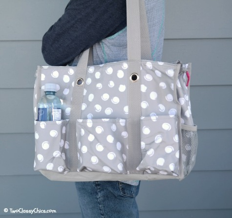 Thirty-One Zip Top Utility Tote Bag