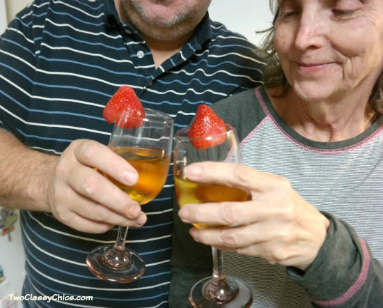 Gingerale Mocktails with Strawberries