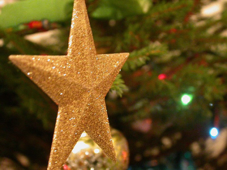 Gold Christmas Star