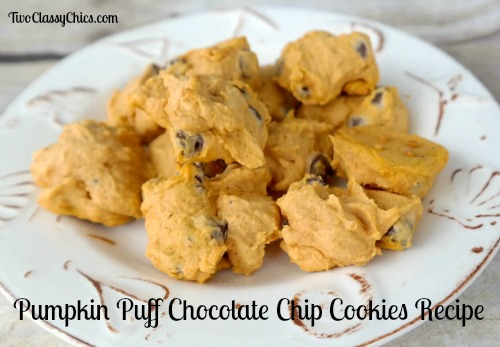 Pumpkin Puff Chocolate Chip Cookies
