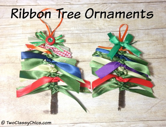 Ribbon Tree Christmas Ornaments