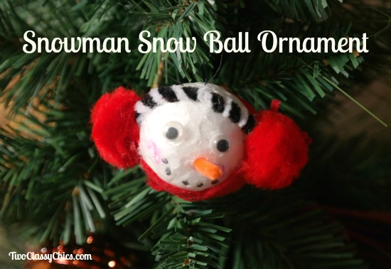 Snowman Snowball Christmas Tree Ornament