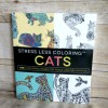 Stress Less Coloring CATS Adult Coloring Book