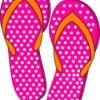 Pink Flip Flops - Summer