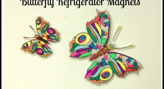 Craft Project - Butterfly Refrigerator Magnets