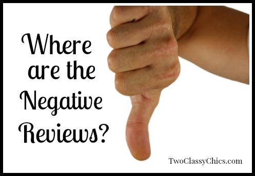 Blogging: Where are the Negative Reviews?