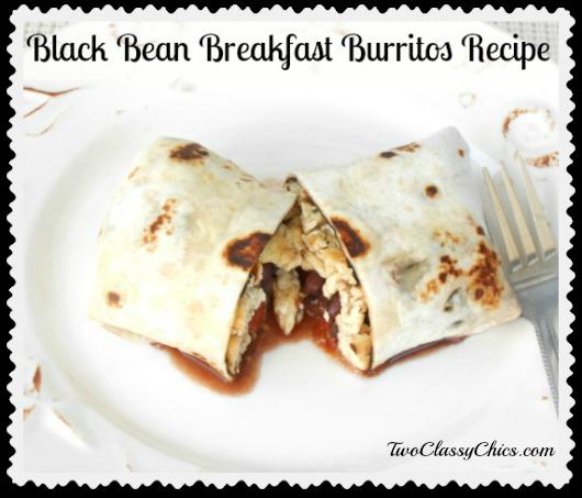 Black Bean Breakfast Burritos Recipe
