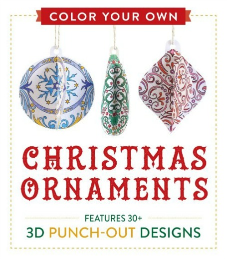 Color Your Own Christmas Ornaments Punch-Out Book