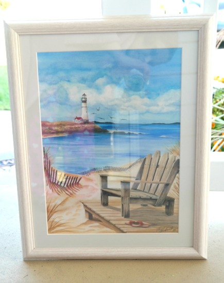 Coastal Lighthouse Beach Framed Wall Art Print