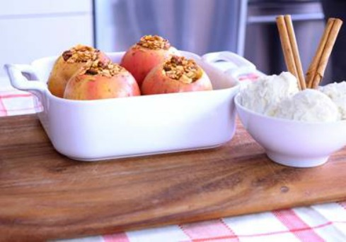 Baked Granola Stuffed Apples Recipe