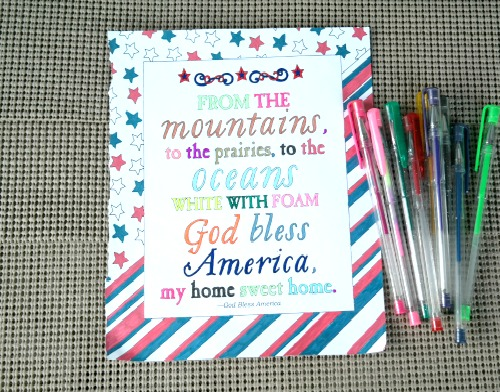 America the Beautiful Patriotic Adult Coloring Book