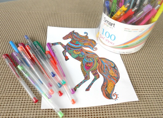 Smart Color Art - 100 Colors Gel Pen Set