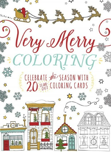 Very Merry Coloring - Color Your Own Holiday Cards