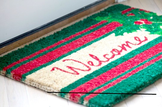 Welcome Holly Holiday Doormat