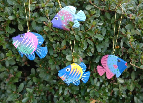 Coastal Tropical Fish Ornaments from UNICEF Market