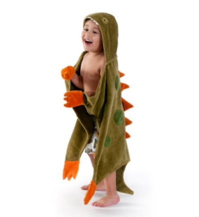 Hooded Dinosaur Bath Towel by Kidorable