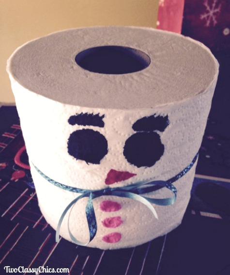 Kid's Crafts: Snowman Toilet Paper Roll