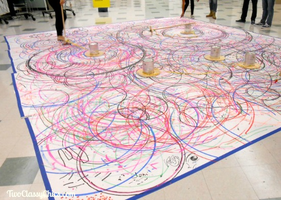 Spirograph Street and Floor Art