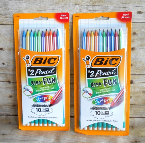 BIC Xtra Fun Stripes No. 2 Pencils