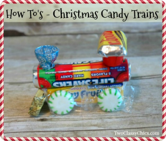 Christmas Crafts: Easy-to-Make Candy Trains