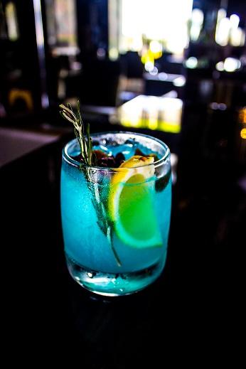 Hanukkah Blue Dreidl Cocktail Recipe