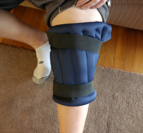 Relieving Knee Pain with a Hot & Cold Knee Wrap