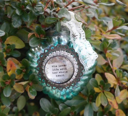 Mercury Glass Heart Ornament by Beth Quinn Designs