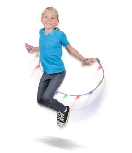 Kids Love the Kinetic-Powered LED Light Jump Rope