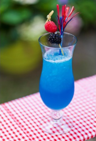 Blue Frozen Lemonade Cocktail Recipe