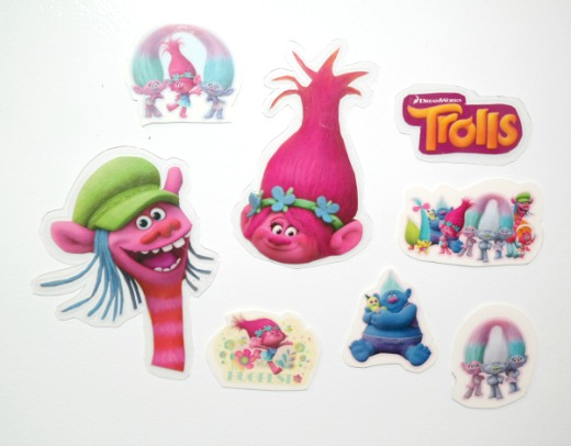 Craft Project: Dreamworks Trolls Theme'd Refrigerator Magnets