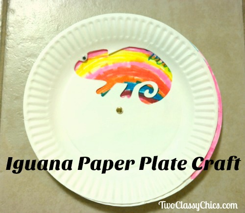 Kid's Craft Project: Iguana Paper Plates