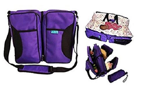 3-in-1 Bassibag Portable Bassinet and Changing Station Diaper Bag