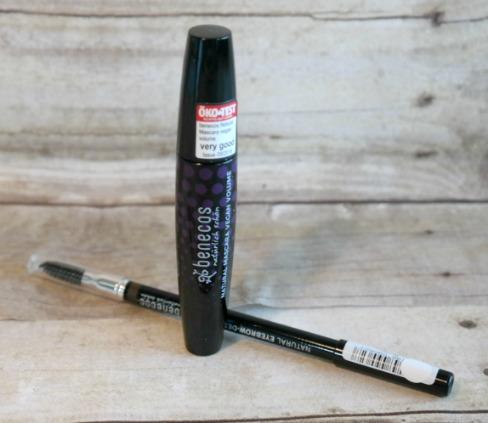 Benecos Black Mascara and Brown Eyebrow Pencil